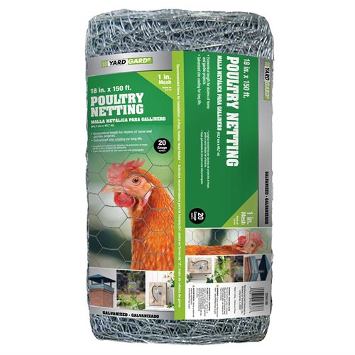 Poultry Netting, 1 In. Wire Mesh, 150 Ft. x 18 In. Roll