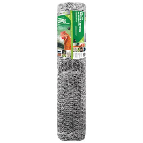 Poultry Netting, 1 In. Wire Mesh, 150 Ft. x 36 In. Roll