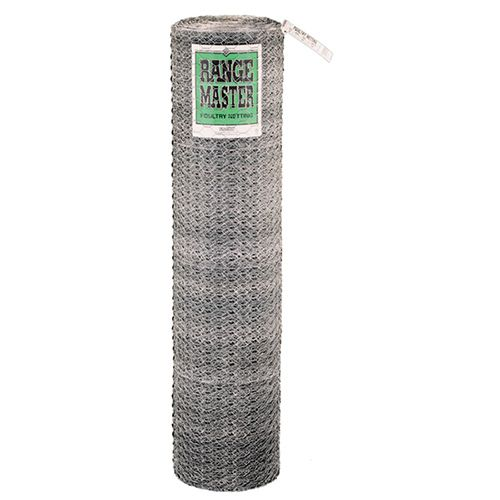 Poultry Netting, 2 In. Wire Mesh, 150 Ft. x 24 In. Roll