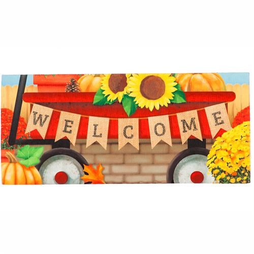 Autumn Red Wagon Switch Mat