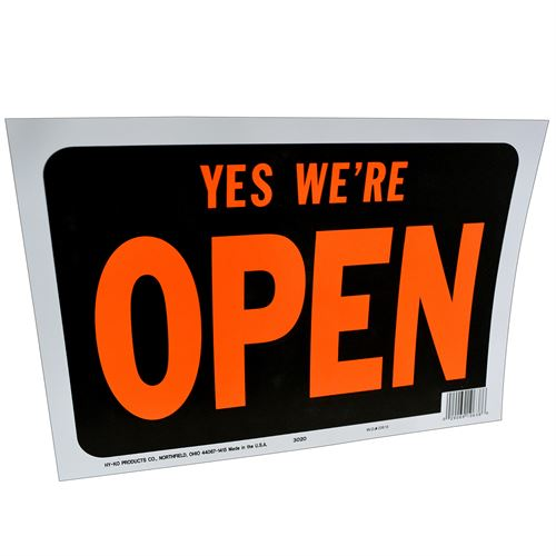 Yes, Were Open Sign