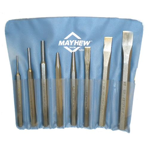 Punch and Chisel Set,  8 Piece