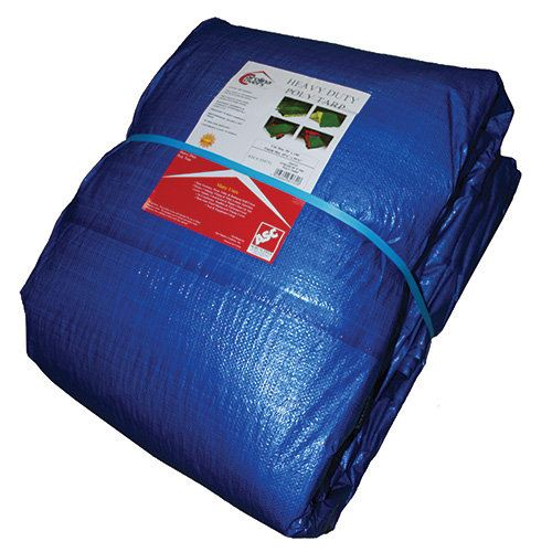 Carolina Covers ® Blue Poly Tarp, 6 Ft. x 8 Ft.