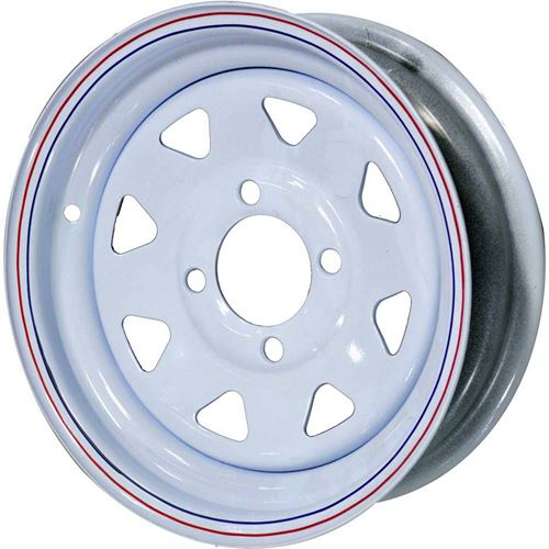 On Lug White Spoke Trailer Wheel