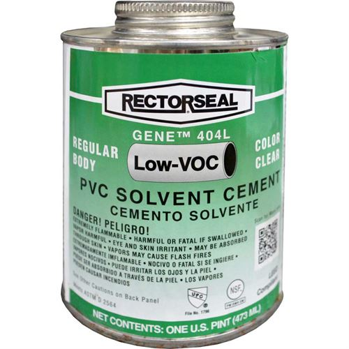 Clear Regular Bodied Pvc Cement Oz