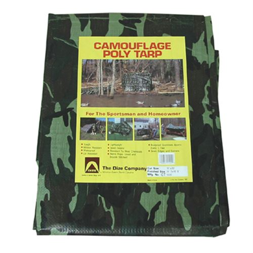 Camouflage Poly Tarp
