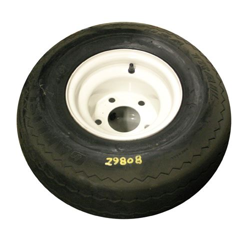 Trailer Tire and Wheel, 18.5 x 8.5 - 8, LRC, 5 on 4-1/2 In.
