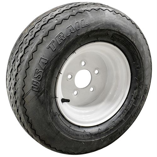 Trailer Tire And Wheel, 20.5 X 8 - 10, Lrc, 5 On 4.5 Pattern