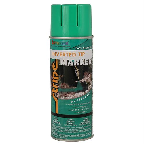 Inverted Tip Marker Paint Safety Green