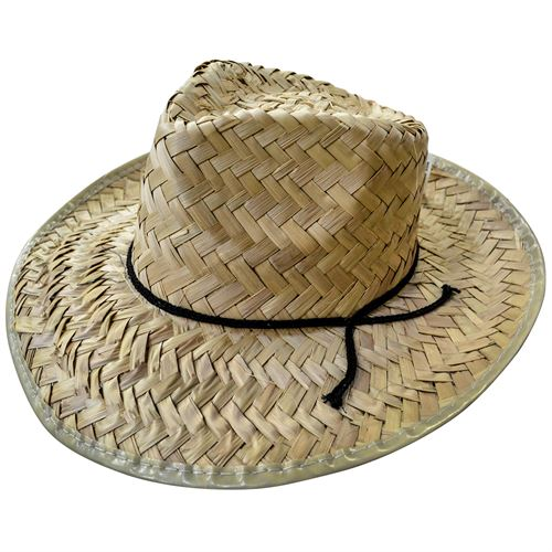 Palm Straw Hat With Out Green Visor