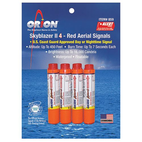 RED AERIAL SIGNAL FLARE