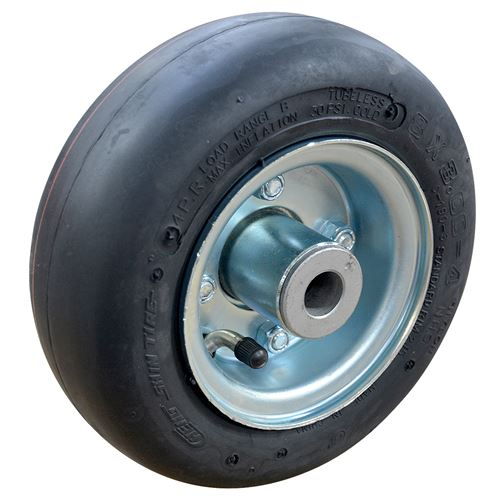 Tire And Rim With Axle And Nut