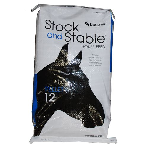 Horse Feed Pellets, Stock and Stable, 12 percent, 50 Lbs.
