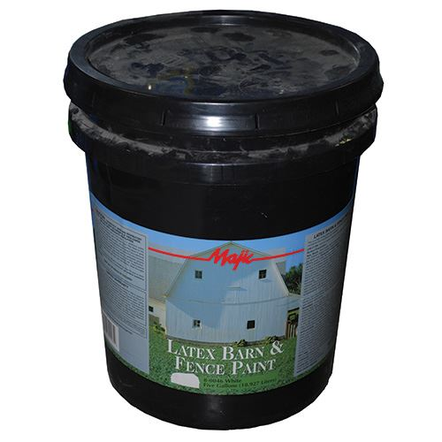 Latex Barn & Fence Paint White Gallon