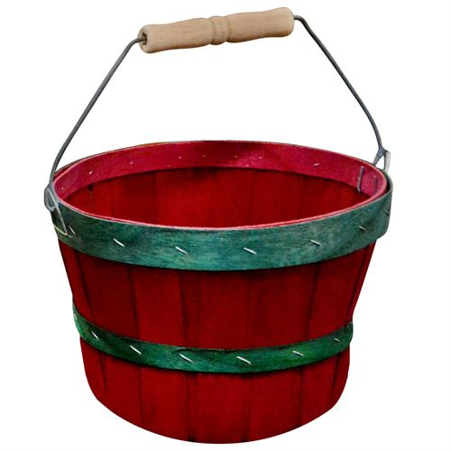 Peck Red Basket Bailwood Handle Red