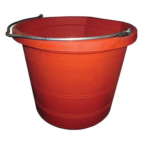 Red Flat Back Bucket, 5 Gallon