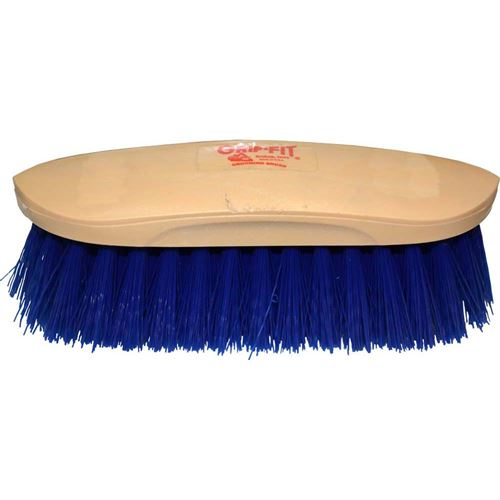 Grooming Brush Grip Fit Blue Med Soft Synthetc