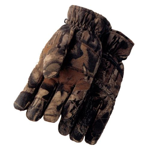 Tr Large Camo Glove Poly Cotton Outer Shell