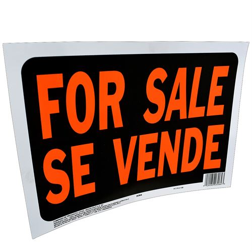 For Sale Bilingual Sign