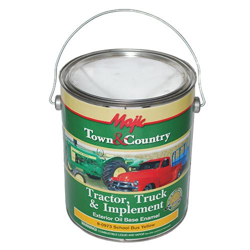 Tractor, Truck and Implement Paint, School Bus Yellow, 1 Gallon