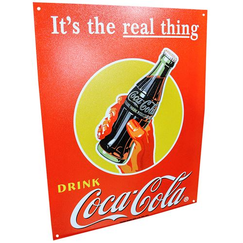 Its The Real Thing Coca Cola Sign