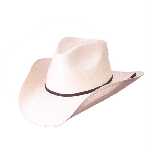 Western Style Hat Canvas Asst Sizes Naturl