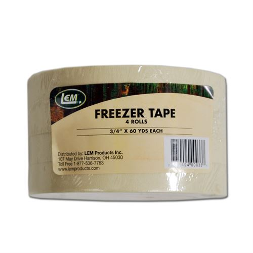 Freezer Tape, 3/4 In. x 60 Yards, 4 Pack