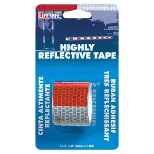 Red Silver Highly Reflective Tape
