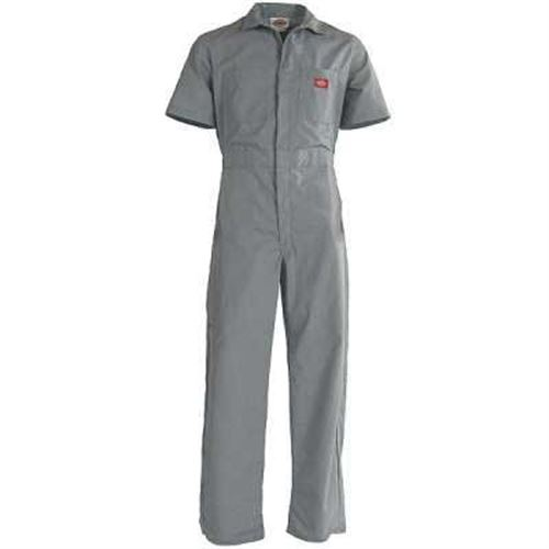 Gy Short Sleeve Coverall Xlarge Reg Gray