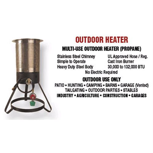 Outdoor Heater, 30,000 to 132,000 BTUs