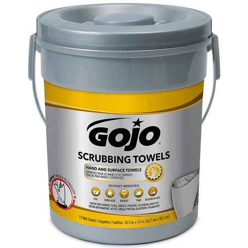 Gojo Scrubbing Wipes Ct Canister