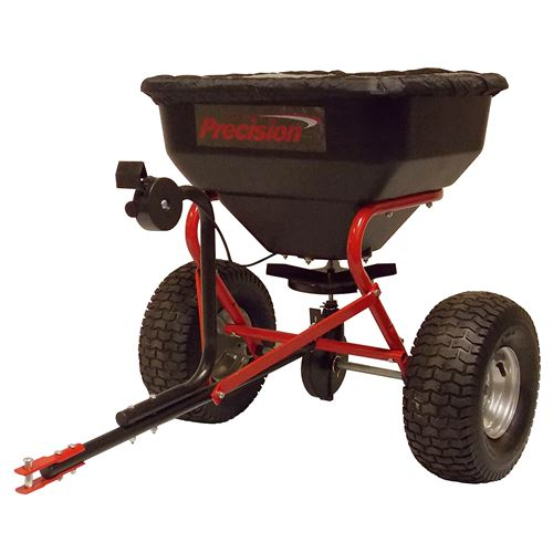 Tow Broadcast Spreader with Rain Cover, 130 Lb. Capacity