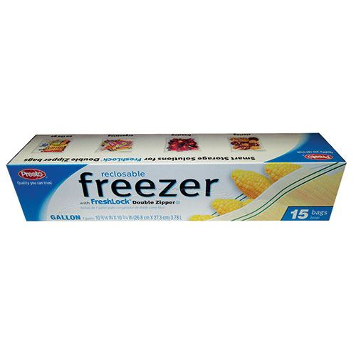 Gallon Freezer Bags, 15 Bags per Box