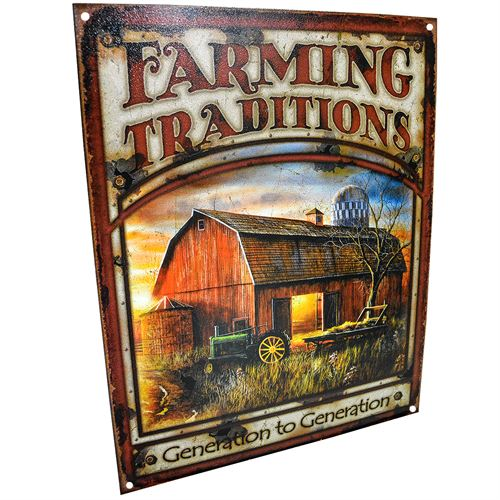 Generation To Generation Farming traditions Sign
