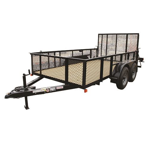 76 In. x 12 Ft. Utility Trailer, Tandem Axle, 5,250 Lb. Payload