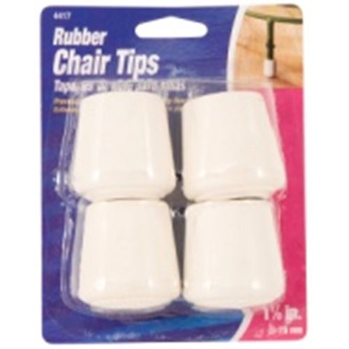 Rubber Tip, White, 1-1/8