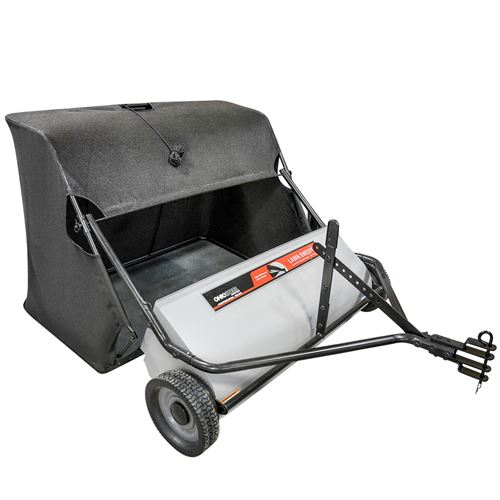 Lawn Sweeper, Tow Behind, 42 In., 22 Cu Ft Hopper Capacity