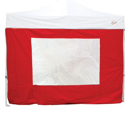 Sidewall with Window for Tent, Red