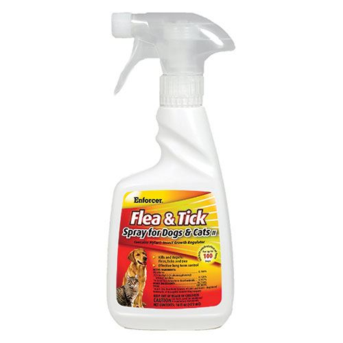 Flea Spary For Dogs and Cats, 16 Oz.