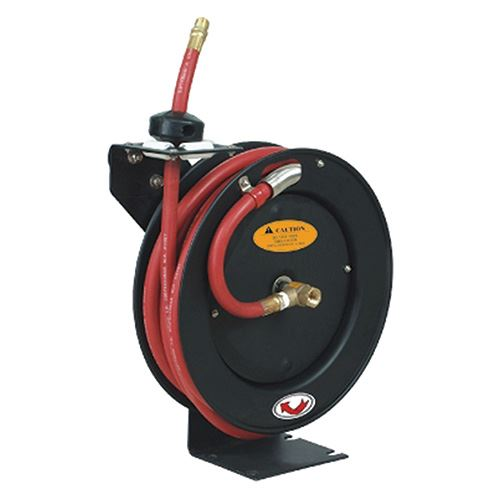 Low Pressure Hose Reel, 3/8 In. Inlet/Outlet, 50 Ft. Hose