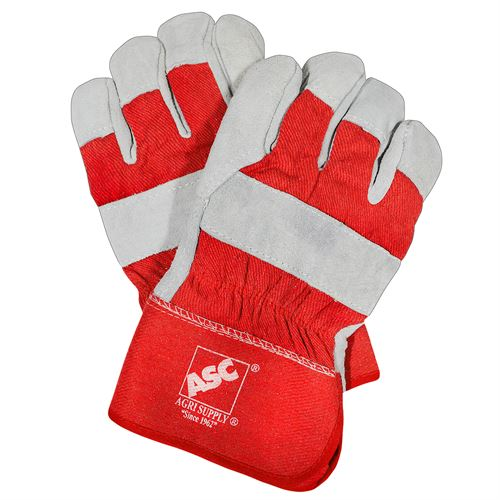 Heavy Duty Leather Gloves with ASC® Logo, XL
