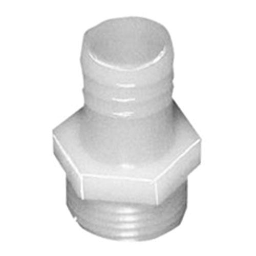 Male Poly Garden Hose Fitting, 3/4 In. x 5/8 In. HB, 2/Bag