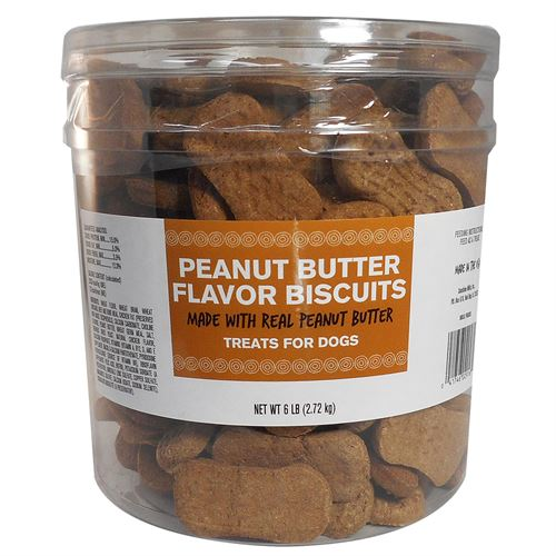 Peanut Butter Dog Biscuits, 6 lbs.