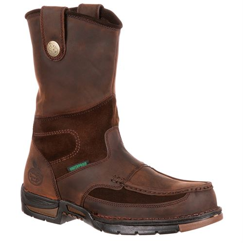 Georgia Athens Waterproof Wellington Boot, Pull-On, Size 11