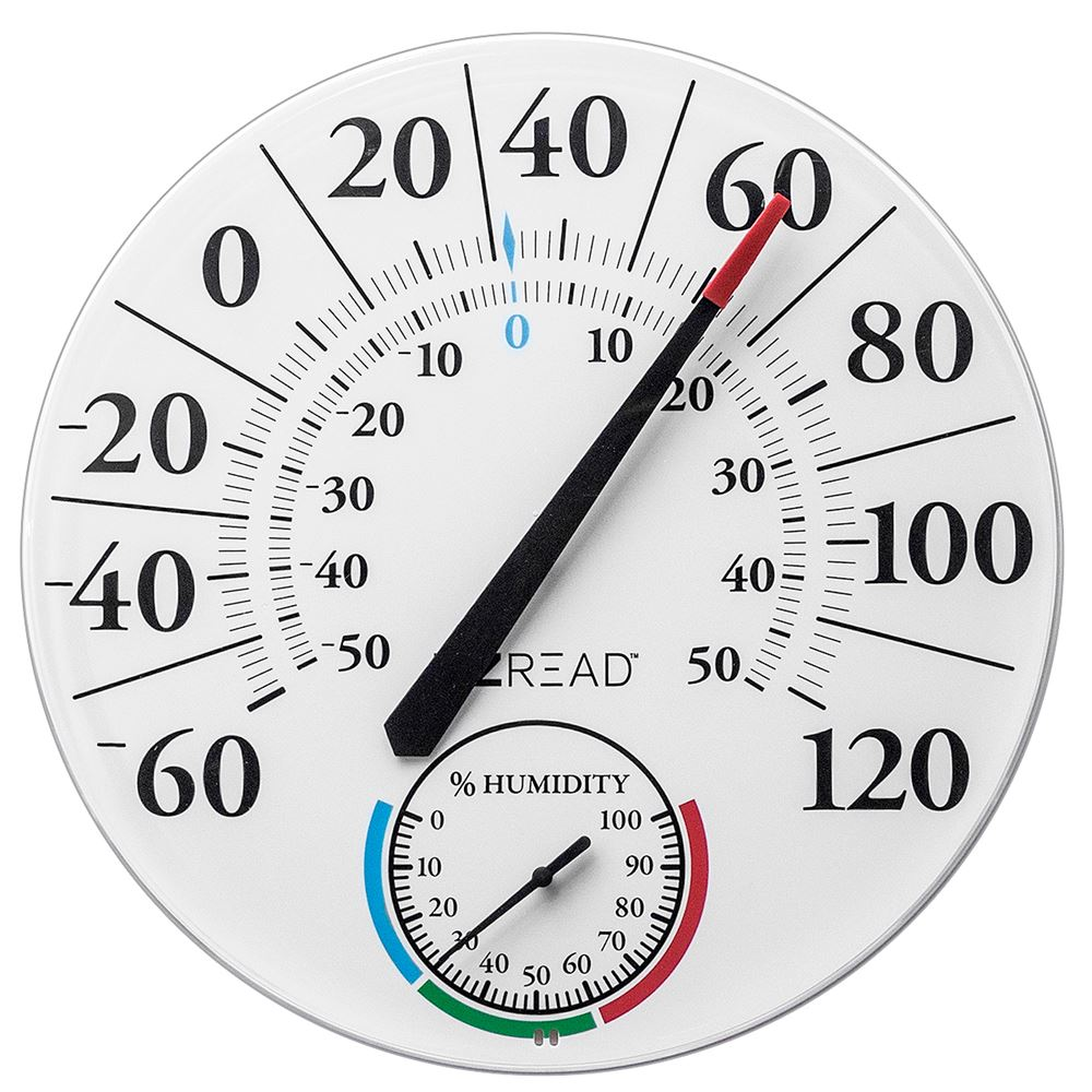 12.5-inch Dial Thermometer Hygrometer