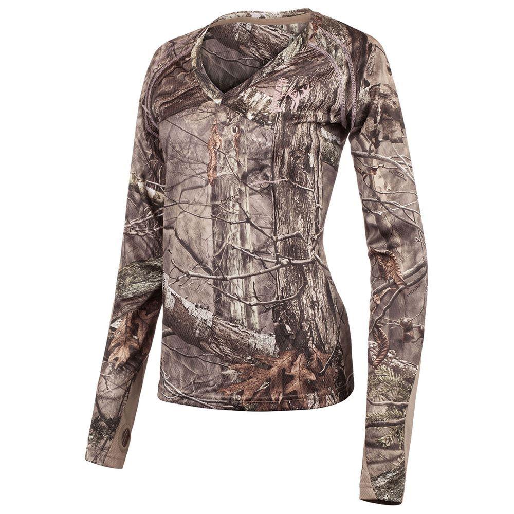 Ladies Camo Long Sleeve Hunting Shirt - Size L