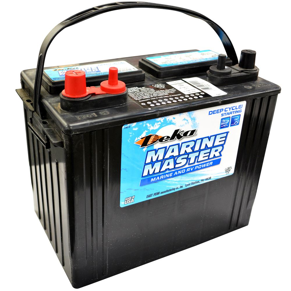 12 Volt Battery : Marine deep cycle battery volt deka